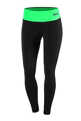 FITTECH PERFORMANCE Damen Thermoaktiv Legging Leggins Strumpfhose Tights Laufhose Sporthose Lang Fitness Pilates Outdoor Radsport Running...