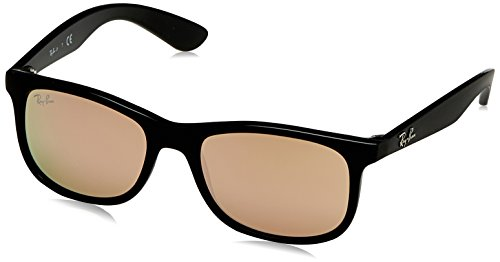 Ray-Ban Rayban Unisex-Kinder Sonnenbrille 9062s, Matte One Black/Flashcopper, 48