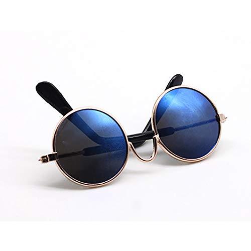 Xiton Colorful Metall Sonnenbrille American Mini Puppe Brille Puppe Dressing Requisiten (Blau) 1 Pcs