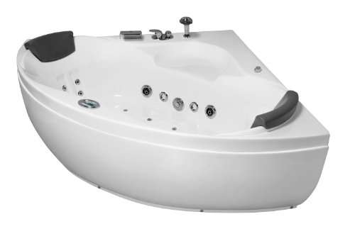 Whirlpool Jacuzzi freistehende Badewanne Hydromassage 130x130