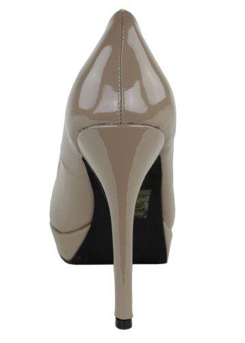 Dixie  Plateaupump Doreen, chaussures compensées femme Marron - Stone