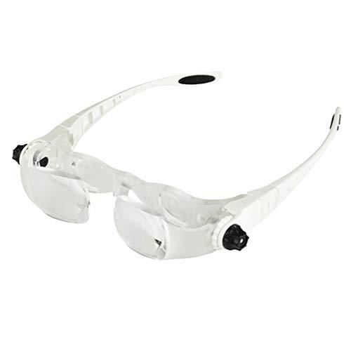 Kopfmontierte 4X-Brille Lupe Abnehmbare TV-Lupenbrille einstellbare Lupe Optische Instrumente Rahmentyp