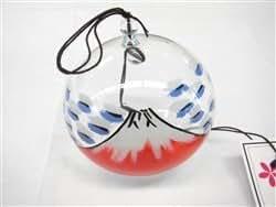"""Carillon à vent japonais en verre peint a la main """"Le Mont Fuji"""""""