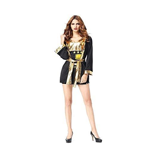 Fashion-Cos1 Halloween Boxer Kostüme Sportswear Boxer Anzug Uniform Cosplay Karneval Maskerade Maskenball Nachtclub Party Kleid (Boxer Outfit Weibliche)