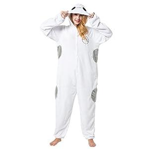 Katara-(10+ Modelos) Kigurumi Pijamas Disfraz Animal Halloween Adultos, Color baymax, Talla 175-185cm (1744)