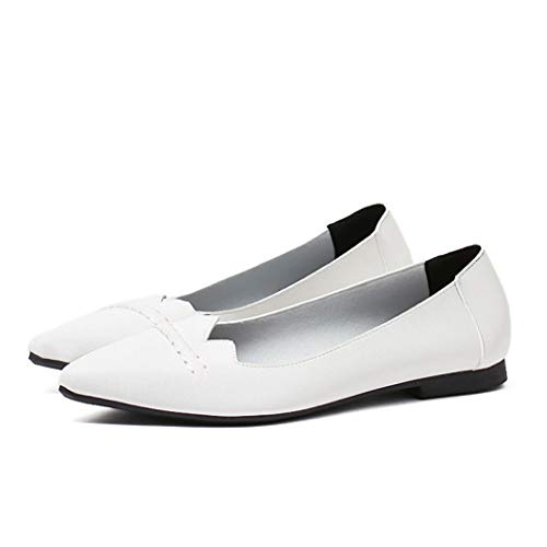 Zapatos Planos de Mujer Slip on Pointy Toe Soft Faux Leather Comfort Light Zapatos Antideslizantes Simples...