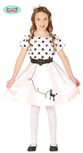 Guirca costume pin up sandy greaseanni '50 carnevale bambina 8854_ 10-12 anni