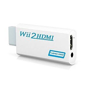 Famounte WII zu HDMI Konverter mit 3,5 mm Kopfhöreranschluss Full HD Audio Video 1080p WII Wandler auf Hdmi Adapter für Nintendo WII/WII U bis Monitor/Beamer / Fernseher