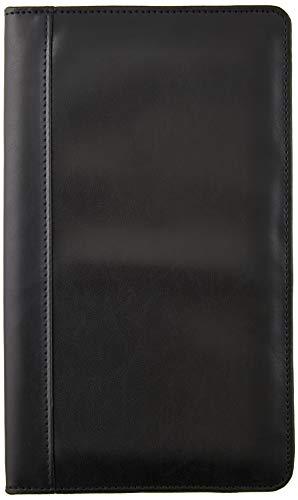 Alassio Visitenkarten Ringbuch aus FineTouch Lederimitat, mit Register A-Z und Einlagen für 120 Karten Visitenkartenhülle, 25 cm, Schwarz
