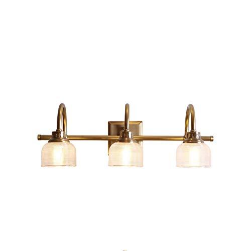 ZXL Spiegel Scheinwerfer Kupfer Einfache Moderne Amerikanische Licht Glasabdeckung Wandleuchte Einzelkopf Badezimmer Vanity Lampen -