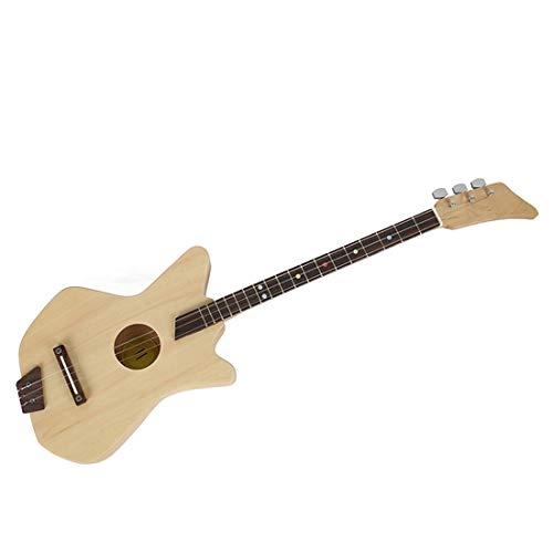 FELICIPP DREI-Saiten-Akustikgitarre Kinder Studenten Anfänger montiert Holz Gitarre Puzzle erleuchtetes Geschenk Musikinstrument ( Color : Wood Color )