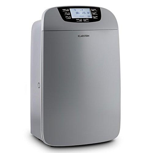 Klarstein Drybest 40 • Luftentfeuchter • Luftreiniger • elektrischer Raumentfeuchter • 40 Liter/24 h • 600 W Kompressor • Aktivkohle- / HEPA-Filter • dunkelgrau