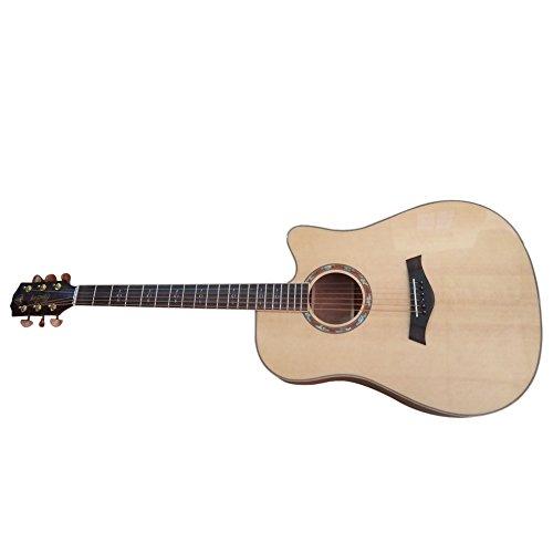HONSING® 41 pollici chitarra acustica / barile scheggiature abete noce superficie inferiore laterali HS-4106CS-NT(colore di legno) - Fender Noci