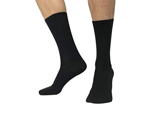 Calcetines hombres algodon peinado de alta calidad - Negro - Pack 6 pares - Talla 41 46