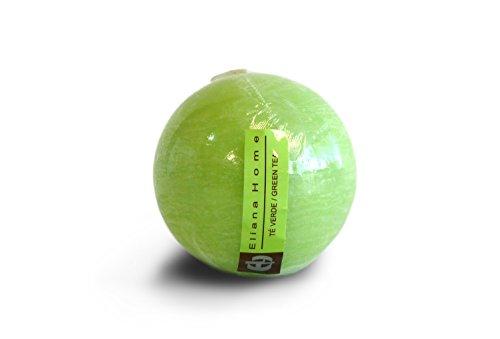 Eliana Home Vela esférica te Verde, 7.5 cm, Cera, 7.50x7.50x7.00 cm