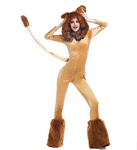 Tianxinshop Erwachsene Unisex Lion Kostüm Onesie Tier Cosplay Pyjamas Halloween Karneval Kostüm Loungewear