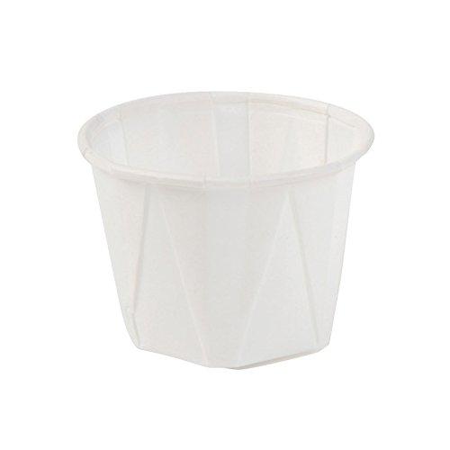 250x mini gobelets portion | Coupelle pour sauce | Gobelet en papier blanc | 30ml rond | 100% biodégradable compostable DIN13432 | revêtement bio| pour sauces et amuse-bouches