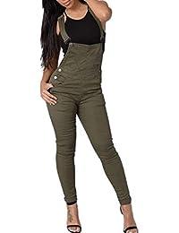Saoye Fashion Tuta da Donna Elasticizzata Casual Leggings Pantaloni Slim  Giovane Pantaloncini Stretch Pantaloncini con Bretelle 3bb6c9d831d8