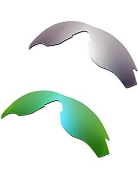 Hkuco Mens Replacement Lenses For Oakley M2 Titanium/Emerald Green Sunglasses