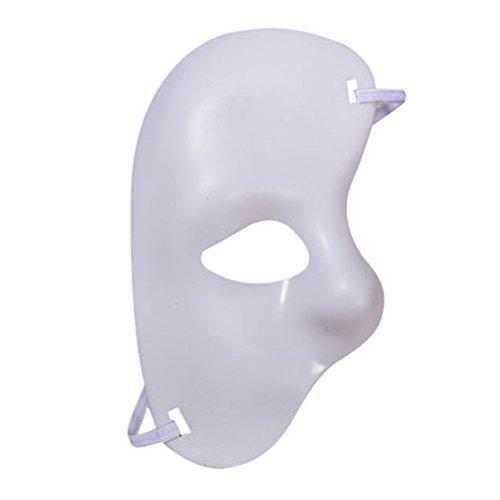 Wokee Maskerade Maske Halloween Kostüme Antiken Griechischen Venezianischen Mardi Prom Party Mask Zubehör DIY Handgemacht für Erwachsene,Karneval (Weiß)