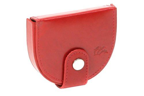 Boîte à monnaie LEAS, cuir véritable, rouge/cerise - ''LEAS Special Edition''