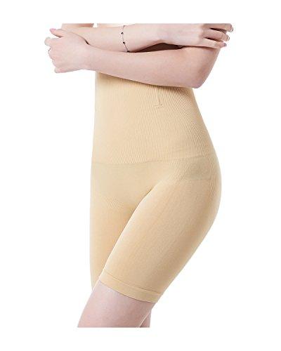 KissLace Damen Miederhose Bauch Weg Mit Bein Miederpants Figurformend Shapewear Hautfarbe