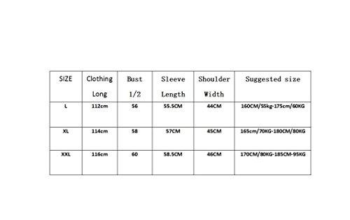 ZC&J Qualitätsmänner silk Pyjamas im Sommer und langen Abschnitt der Hauptpyjama langärmeligen dünnen Abschnitt atmungs Bademäntel,N,XXL E