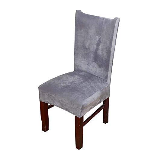 DANSPEED Entfernbar Stuhl-Abdeckung Fuchs-Stapel-Gewebe Stretch-Stuhlbezug Elastische Moderne Husse Esszimmer Hochzeit Bankett