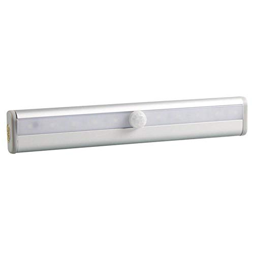(Bewegungsmelder-Garderobenleuchte, LED-Batterie, batteriebetrieben, energiesparende Nachtlichtstreifen, Magnetlampe für Schrank-Schrank-Küchenschrank-Garage weißes Licht)