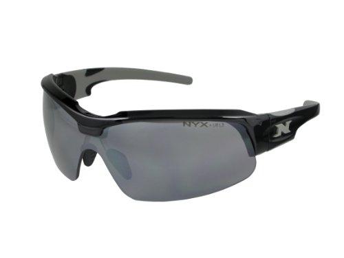 NYX Sport Vision Pro z-17Serie Sonnenbrille mit Z87.1Sicherheit Bewertung, black-gray Rahmen/dunkelgrau Abweiser Sicherheit Objektiv, Medium