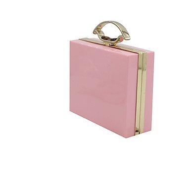 ZYT Damen Plastik Alltag Abendtasche blushing pink