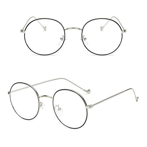 CADANIA Metall Dünne Runde Rahmen Brille Studenten Trend Unisex Optische Gläser Anti-Blu-ray Flachspiegel 5#