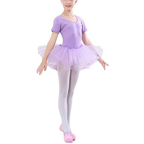 Mädchen Ballettkleider Ballettanzug Tutu Kleid Festlich Prinzessin Kinder Tanzkleid mit Ballett-Tüll Rock
