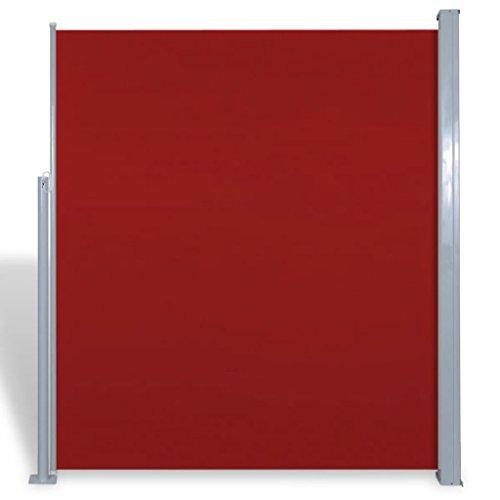 FZYHFA Seitenmarkise für Terrasse 160 x 300 cm rot Sonnensegel Sonnenschutz Sichtschutz Garten