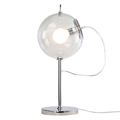 LZDHY Lámpara de mesa de cristal nórdico de la lámpara Dormitorio simple Sitio de estudio de la cama Sala de estudio Iluminación de la sala de estar Regalos de Navidad Luces de escritorio