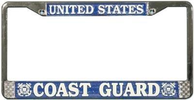 Mitchell Proffitt USA Coast Guard Chrome License Plate Tag Rahmen - Coast Guard License Plate