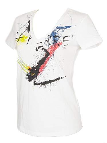 5cefa5cb3ab1f GF FERRE' T-Shirt Woman Short Sleeve v Neck Shirts Cotton Item 4F7740 Made  in Italy