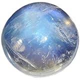 Cabochon 9mm rund, Mondstein blau