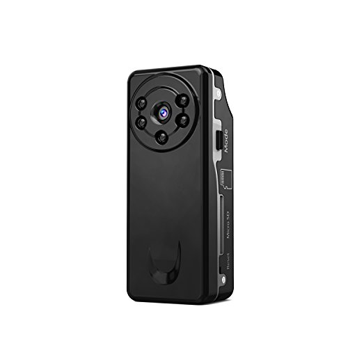 Conbrov DV12 Mini Spion Kamera, HD 720P Geräuscherkennung unterstützte mini versteckte Kamera, Infrarot-Nachtsicht Mini Überwachungskamera Tragbares Pocket DV Cam hd mit 5 Schwarze LED,gleichzeitiger Aufladung (Powerbank), 5 Tage Stand-by