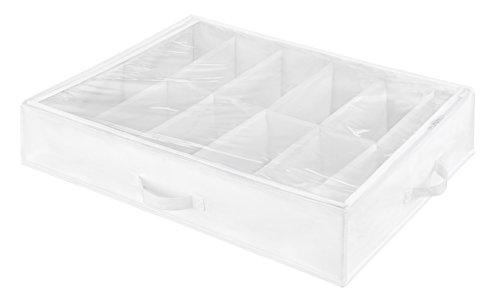 Whitmor 6044–3151weiß Crystal Collection Unterbett Schuh Tasche, weiß/transparent (Zubehör Gehäuse Woven)