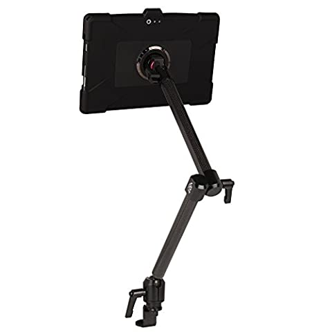 The Joy Factory MagConnect Carbon Fiber Car/Truck Seat Bolt Mount with aXtion Edge M Rugged Shockproof Case for Surface Pro (2017) and Surface Pro 4 (MWM205)