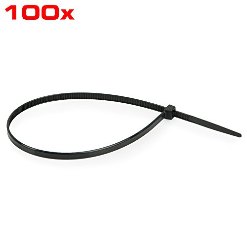 Preisvergleich Produktbild Kabelbinder, 300 mm, 100 Stück Beutel, RACEFOXX