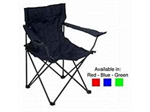 Folding Canvass Camping / Fishing Chair - Green x 2