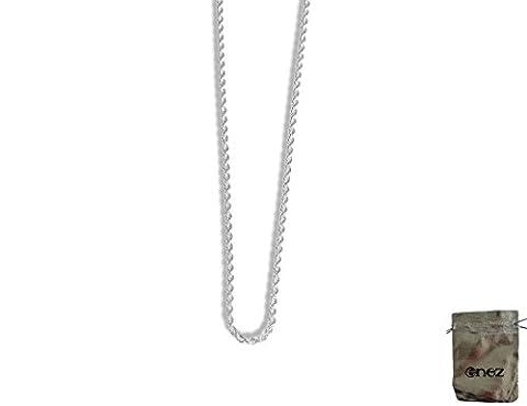 Douarnenez Collier roi Chaîne plaqué argent 925Longueur 46cm B: 3mm + pochette cadeau B014