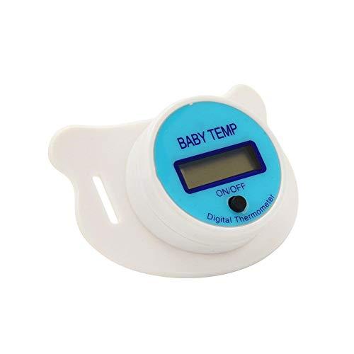Adore store Baby-Thermometer-Digital-Soft-Schnuller-Thermometer LCD-Anzeige Sicher Beruhigungssauger Kinder Nippel Temperaturmesswerkzeug mit Akku blau - Digitale Baby Schnuller-thermometer