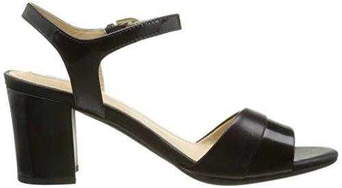 Geox D Nesa A, Sandales Femme Noir (C9999)