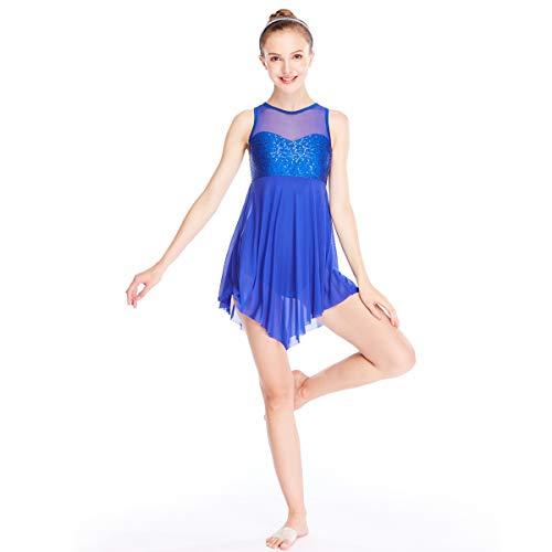MiDee Illusion Süße Pailletten Tank Top Cut Rock Lyrischen Kleid Tanzen Kostüm (MA, ()