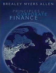 Principles of Corporate Finance 9th (ninth) Edition by Richard A. Brealey, Stewart C. Myers, Franklin Allen published by McGraw-Hill (2007)