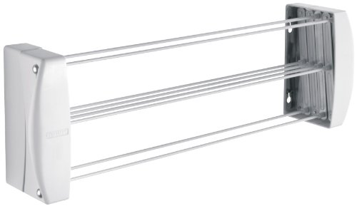 Leifheit Teleclip 42 - Tendedero de Pared extendable de plástico, 4.2 m, Color Blanco
