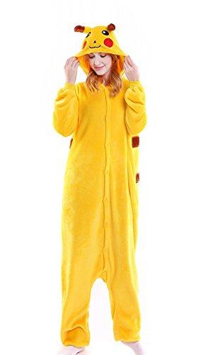 urumi Schlafanzug Pyjama Kostüm Cosplay Homewear Lounge Wear Gr. X-Large, Pikachu (Pikachu-kostüme)